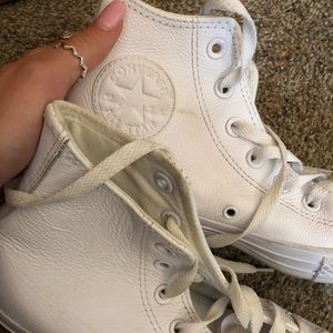 MONOCHROME WHITE HIGH TOP CONVERSE